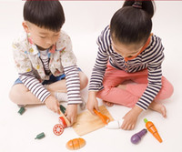 Wholesale Baby Kid Children Wooden Kitchen Toys Cook house Educational Vegetables set baby toys