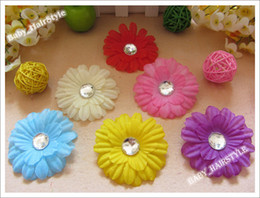 Wholesale 16 Color inch Tiny Hair Flower Baby Alligator Clips Kid s Headwear Girl s Hair Bows gear