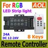 High Power 8key LED IR Remote Controller For RGB LED Strip light SMD 3528 5050 Wireless Controller