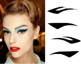 Wholesale pairs set Vintage Eye liner Sticker Shadow Sticker Smoky Eyes Sticker