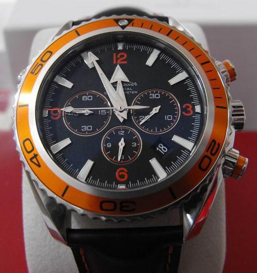 mens orange vk quartz movement watch men dive chronograph mens orange vk quartz movement watch men dive chronograph leather watches