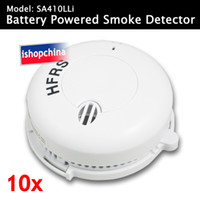 Wholesale 10pcs Standalone Battery Powered Smoke Fire Alarm Detector SA410LLi DHL EMS