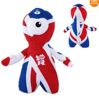 Grassland Animals animal olympics - London Olympics Game OFFICIAL Wenlock inch cotton Plush Toy mascot wenlock soft toy gift
