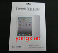 Wholesale Screen Protector film Guard for Samsung Tab P5100 with retail package
