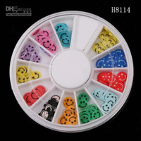 Wholesale 15 styles D Mix Fimo Nail Art Decoration Tips UV Acrylic polymer clay slices Manicure Wheel