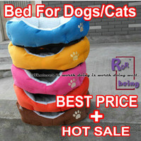 Wholesale colorful dog bed pet product great gift for dog cat rabbit SIZE S Soft material brown pink orange