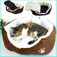 Wholesale Free shiping Indoor Pet Puppy Dog Cat Soft Fleece Winter Warm Bed House Nesting Soft Pad Mat