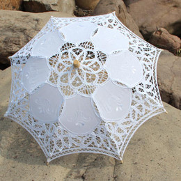 Wholesale Wedding Decoration inches Promotion Child Stock Lace Parasols