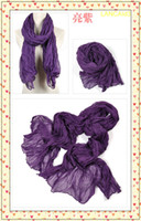 Wholesale Cheap scarf Fashion scarf silk scarf cashmere Scarf pattern knitting wool piece purple