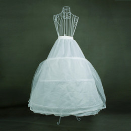 Wholesale White Hoops Double Layered Wedding Accessories Petticoat for Bridal Gowns Prom Dress
