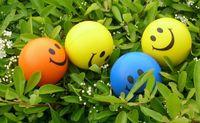 Wholesale Cute Smiley PU ocean ball cm sponge wave ball children s toys grasping ball g