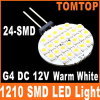 Wholesale G4 SMD LED Light lm Home use Car RV Marine Boat Lamp Bulb Warm White Spotlight DC V H8512