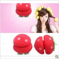 Wholesale High elastic soft sponge ball with a sleeping strawberry roll hair curler goodquality