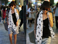 Wholesale Skull Shape Scarf Shawl Women s Edging European style