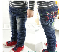 Wholesale Children s jeans pure cotton elastic autumn and winnter baby jeans hot seling