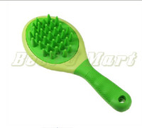 Wholesale NEW Green New Pet Dog Cat Comb Bath Massager Grooming Brush