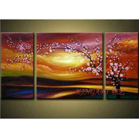 Wholesale The Flowering Cherry Hand Painted Artwork Oil Paintings On Canvas