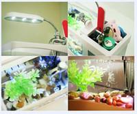 Новые 15pcs Портативный USB ЖК рабочего лампы Свет Fish Tank аквариум светодиодные часы светодиодные часы Pen Holder