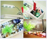 Wholesale Newest Portable USB LCD Desktop Lamp Light Fish Tank Aquarium LED Clock LED Clock Pen Holder
