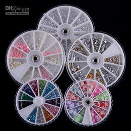 Wholesale 5 Wheels Nail Art Decoration Pearl Rose Nail Art Decals