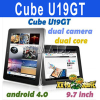 Wholesale 9 inch Cube U19GT dual core Android tablet PC Rockchip RK3066 G G Free Earphones U19gt Cube