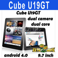 Wholesale 9 inch Cube U19GT dual core Android tablet PC Rockchip RK3066 G G Free Earphones Ebook