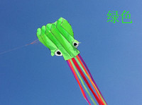 Wholesale Multicolored Octopus Soft Chinese Outdoor Sport Flying Kite m long Kid Toy Gift and r