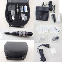 tattoo machine case - Permanent Makeup Kits Mosaics Machine Needles Tips Case Footswitch For Eyebrow Tattooing