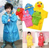 al por mayor niñas de lluvia-Modelo de Animal Infantil con Derechos de Autor Raincoat Niños Rain Coat Niño Chicas Rain Cape Impermeable Abrigos