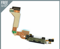 Wholesale For IPhone G Dock Connector Charger Flex Cable Black Charging Port