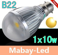 Wholesale New Arrival x10W B22 Led Down Light Globe Lamp W LM Warm White Angle Led Lights V
