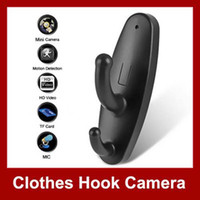 Wholesale Clothes Hook Spy HD Camera Mini DVR Hidden Video Voice Recorder Camcorder Activated Motion Detector