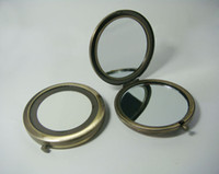 Round metal compact mirror - 5PCS Compact Mirror DIY Metal Mini Cosmetic Portable Mirrorr Copper Color