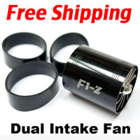 Wholesale Tornado Turbonator Intake Dual Fan Gas Fuel Saver Supercharger Universal BLACK