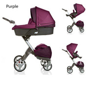 Wholesale Purple Stokke Xplory Stroller with raincover and Mosquito net worldwidely