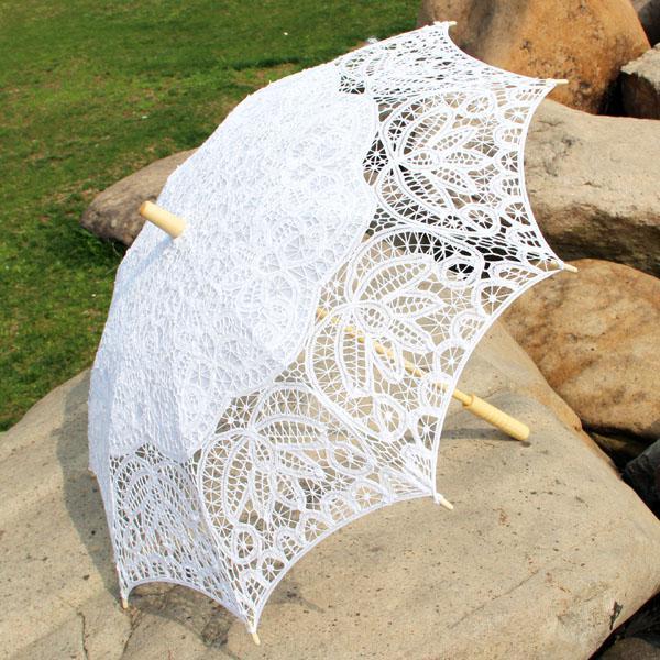 2017 White Wedding Battenburg Lace Umbrella Parasol From Amelie0872 2008
