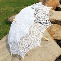 Wholesale White WEDDING BATTENBURG LACE umbrella PARASOL