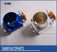 Wholesale UNIVERSAL mm THROTTLE BODY blue red silver