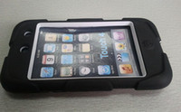 Wholesale Silicone PC robot case Protective Touch Case Cover for ipod touch black
