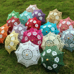 Wholesale European Small Decorative Lace Parasol Umbrellas Doll s Size