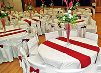 Wholesale 100 satin table runner for banquet party