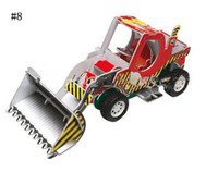 Wholesale Construction vehicles D puzzle D cardboard model practice the children of manual ability