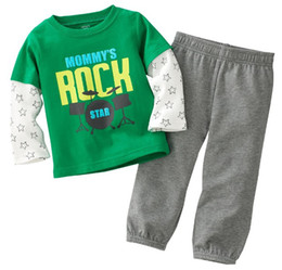 boys tracksuits suits tshirts tops jersey cotton sweatshirts tees sets pants children outfits M1133