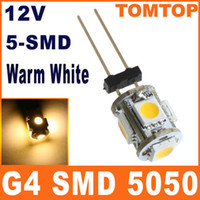 Wholesale G4 SMD LED Light lamp Home Car RV Marine Boat Warm White Bulb spotlight DC V H8572