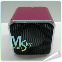Wholesale Mini Speakers classic modern Aluminium Alloy Square Hz For MP3 Computer cell phone