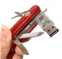Wholesale Genuine gb multi function Pen Drive Swiss Style Tool Knife USB Flash Drive