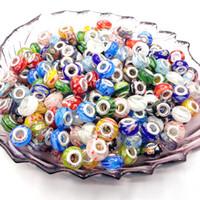 Precio de Mixed crystal beads-Al por mayor-Arabesquitic 14mm color mezclado bricolaje grande de aluminio granos flojos de cristal mágico agujero 100pcs / lot
