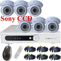 Wholesale CCD TVL IR dome Security Camera TB H DVR CCTV system