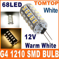 Wholesale G4 SMD LED bulb Warm White white Light lamp Home Car RV Marine Boat lamps DC V H8575WW W