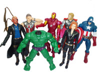 Wholesale The Avengers Marvel Hero Captain Iron Man the Hulk quot Action America Figure Toys Movie Carton set